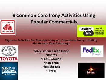 8 Common Core Activities for Dramatic and Situational Irony in Commercials