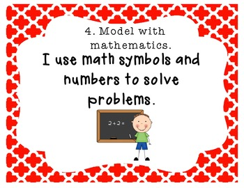 8 Common Core Mathematical Practices with Borders