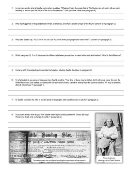 """8 """"Common-Core-Ready"""" Native American Primary Source Bundle (each w guiding Qs)"""