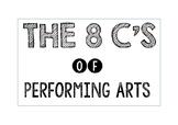 8 Cs of Performing Arts (Black and White) Pdf