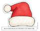 CHRISTMAS Activities - 8 Different Sentence Strip Headbands {Black Line & Color}
