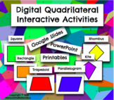 6 Digital Moveable Math Quadrilateral Cards Google Slide P