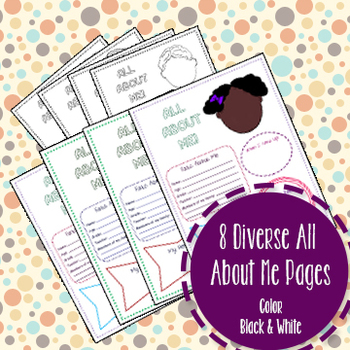 8 Diverse All About Me Pages