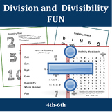 Division and Divisibility Rules Worksheets
