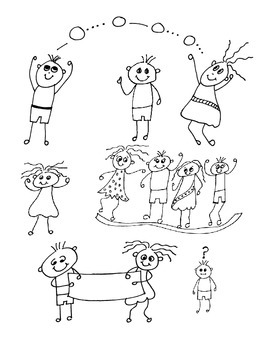 8 Doodle Borders and 6 Kids Graphic zip file .png format