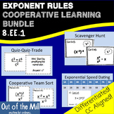 8.EE.1 Exponent Rules Cooperative Learning Bundle