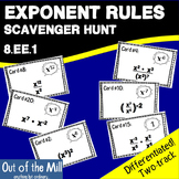 8.EE.1 Exponent Rules Scavenger Hunt