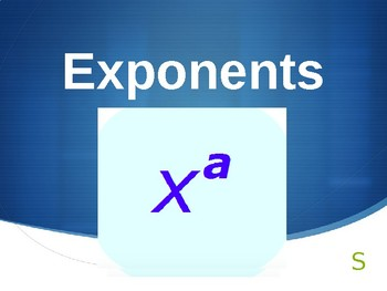 8.EE.1 Exponents Powerpoint Review/Activity