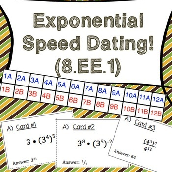 8.EE.1  Properties of Exponents: A Speed Dating Activity