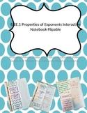8.EE.1 Properties of Exponents Interactive Notebook Flipable