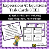 8.EE.1 Task Cards, 8th Grade Math Exponent Law Task Cards