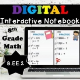 8.EE.2 Digital Interactive Notebook, Square Roots & Cube Roots