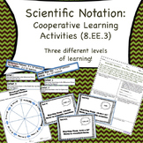8.EE.3 Scientific Notation Cooperative Learning Activities
