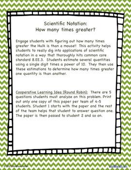 8.EE.3 Scientific Notation:  How many times greater?