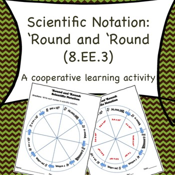 8.EE.3 Scientific Notation:  'Round and 'Round