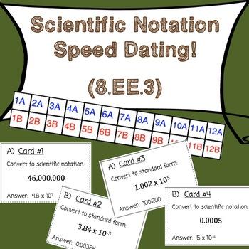 8.EE.3 Scientific Notation Speed Dating