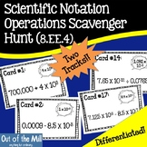 8.EE.4 Scientific Notation Operations Scavenger Hunt