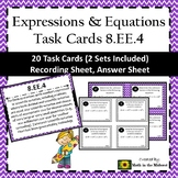 8.EE.4 Task Cards, Scientific Notation Operations Task Cards