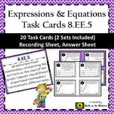 8.EE.5 Task Cards, Proportional Relationships Unit Rate Task Cards