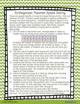 8.G.6-8 Pythagorean Theorem Speed Dating