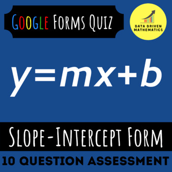 8.EE.6 - Slope-Intercept Form Quiz (Google Forms + Paper)