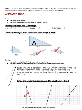 8.EE.6 Slope & y=mx+b Pre-test/ Study Guide/ Reassessment