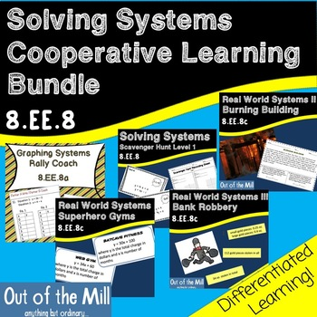 8.EE.8 Solving Systems Cooperative Learning Bundle