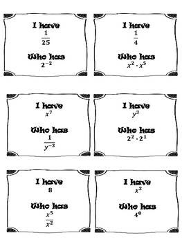 Exponents & Scientific Notation {Homework & Activity} - 8.EE.1, 8.EE.3, 8.EE.4