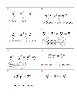 8.EE.A.1 Exponent Discovery Stations (Part 1)