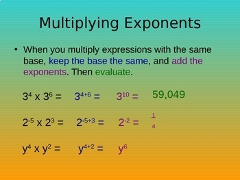 8.EE.A.1 Exponents Review & Equivalent Exponent Expressions (Part 2)