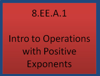 8.EE.1 Intro to Operations with Positive Exponents(PowerPoint)