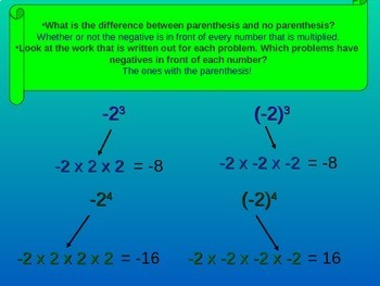 8. EE. A1 - Exponents Intro (negative bases)  (lesson 2 of 3)