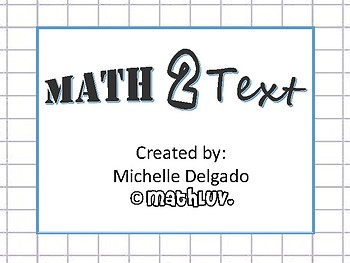 8.EE.C.7 - Math 2 Text Writing Prompt #2