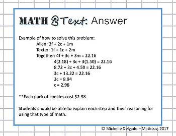 8.EE.C.7 - Math 2 Text Writing Prompt #3