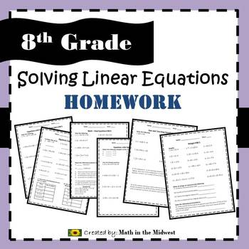 8.EE.C.7 Solving Linear Equations Homework