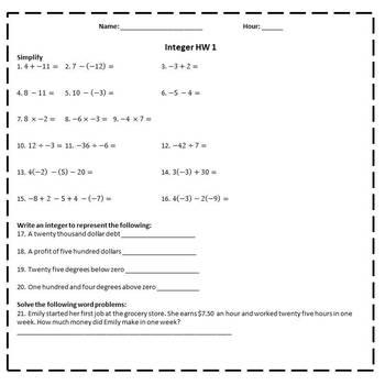 Solving Linear Equations Homework - 8.EE.7
