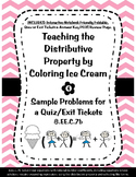 8.EE.C.7b Distributive Property Ice Cream INB Activity, Qu