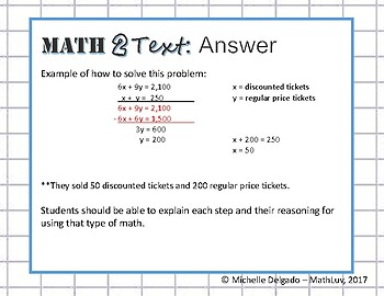 8.EE.C.8 - Math 2 Text Writing Prompt #5