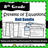 Systems of Equations Unit Bundle {Graphing,Substitution,Elimination} 8.EE.8