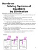 8.EE.C.8 Solving Systems of Equations by Eliminating Hands-on Activity