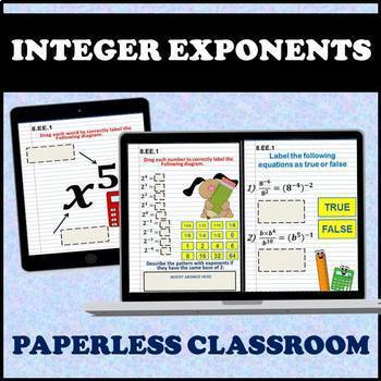 8.EE Math Interactive Notebook: Expressions & Equations Digital Notebook