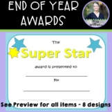 8 End of Year Certificates - Promotion, Moving Up, Star St