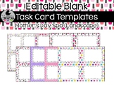 8 Editable Task Card Templates Mothers Day Spa (Landscape) PowerPoint