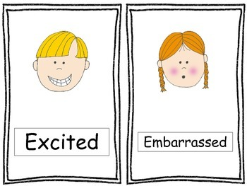 8 Emotions Posters. Preschool, Pre-K, Kindergarten.