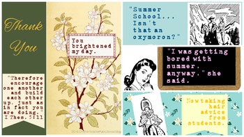 8 Encouraging eCards for Teachers, Summer and Fall Collection