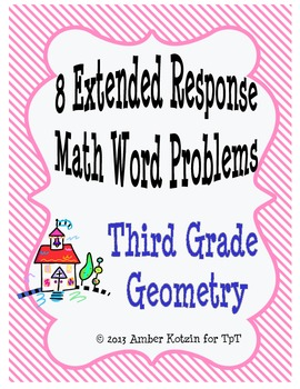 8 Extended Response Math Word Problems for Geometry