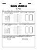 8.F.1-8.F.5 Functions Common Core Quick Check Mini Assessments