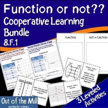 8.F.1 Function or Not: Cooperative Learning Bundle