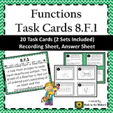 8.F.1 Task Cards, Function Task Cards, Basics of Functions: Function or Not