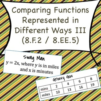 8.F.2 Comparing Functions Represented in Different Ways III